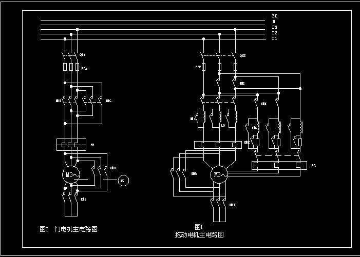 门电机,拖动电机主电路图