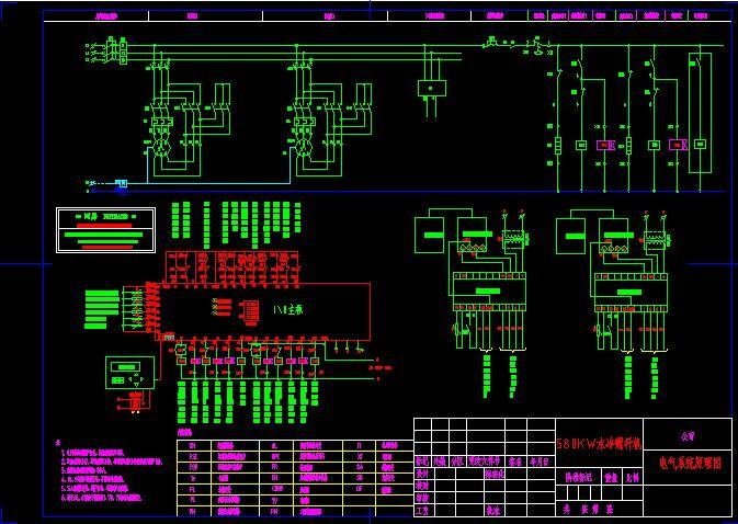大型水冷螺杆机组的控制原理图,供搞空调设计的朋友参考.