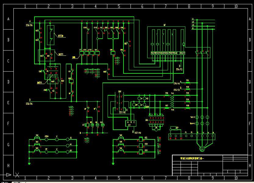柴油发电机控制屏控制电路图