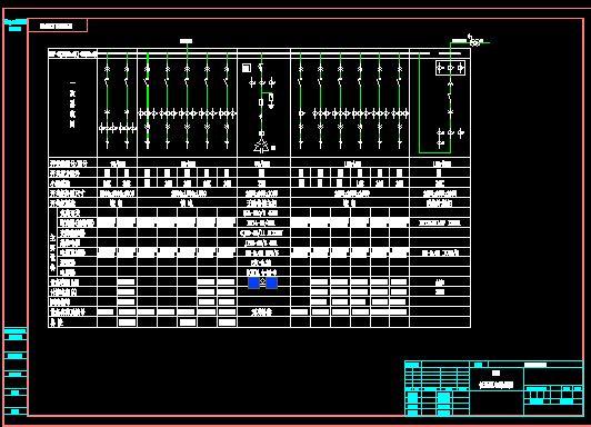 mns低压抽屉式开关柜全套图纸(原理图接线图系统图) 双电源单母线分段